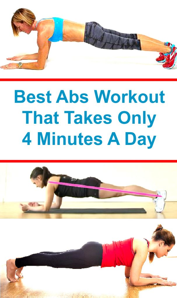 Best Abs Workout That Takes Only 4 Minutes A Day