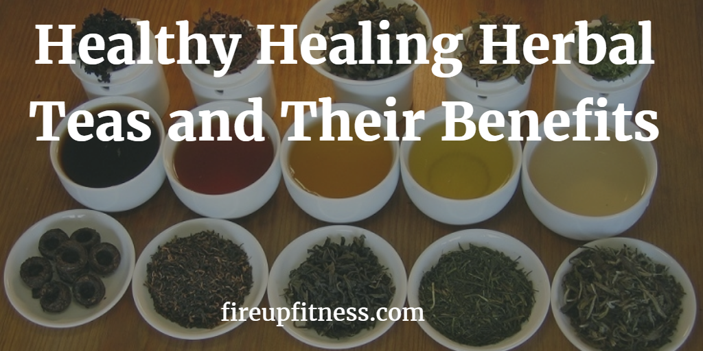 Healthy healing herbal teas and their benefits face