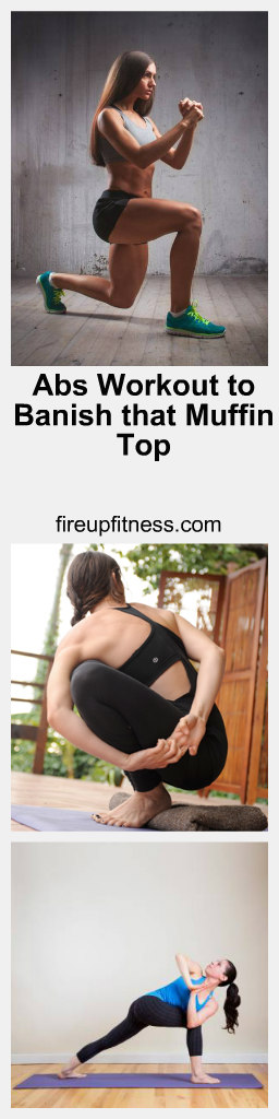 abs workout to banish that muffin top pin