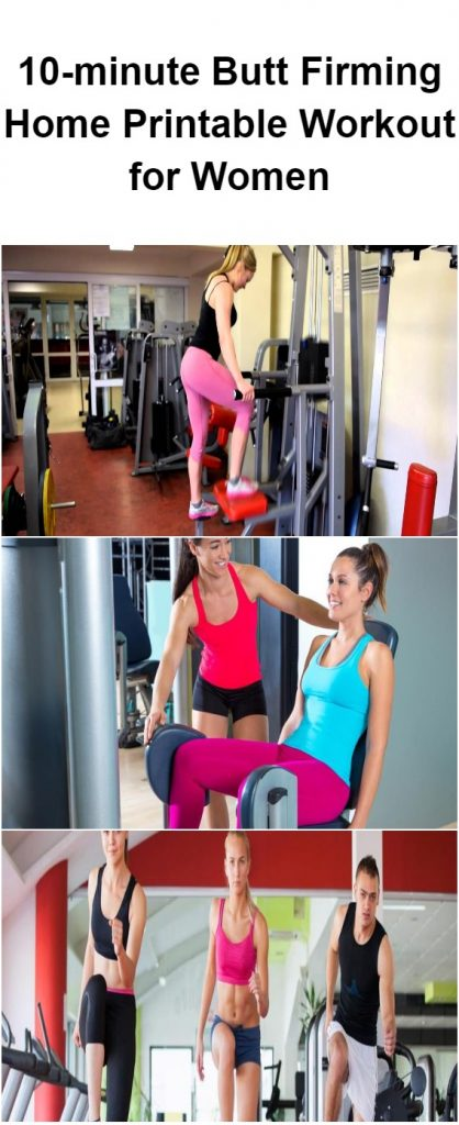 10-minute Butt Firming Home Printable Workout for Women 1