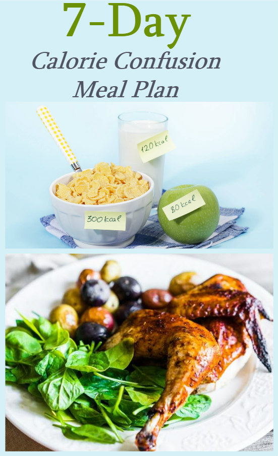 7 day calorie confusion meal plan